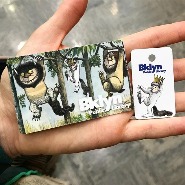I might be about 5 years late in joining the BKPL, but these amazing library cards make up for it #wildthings #bkpl