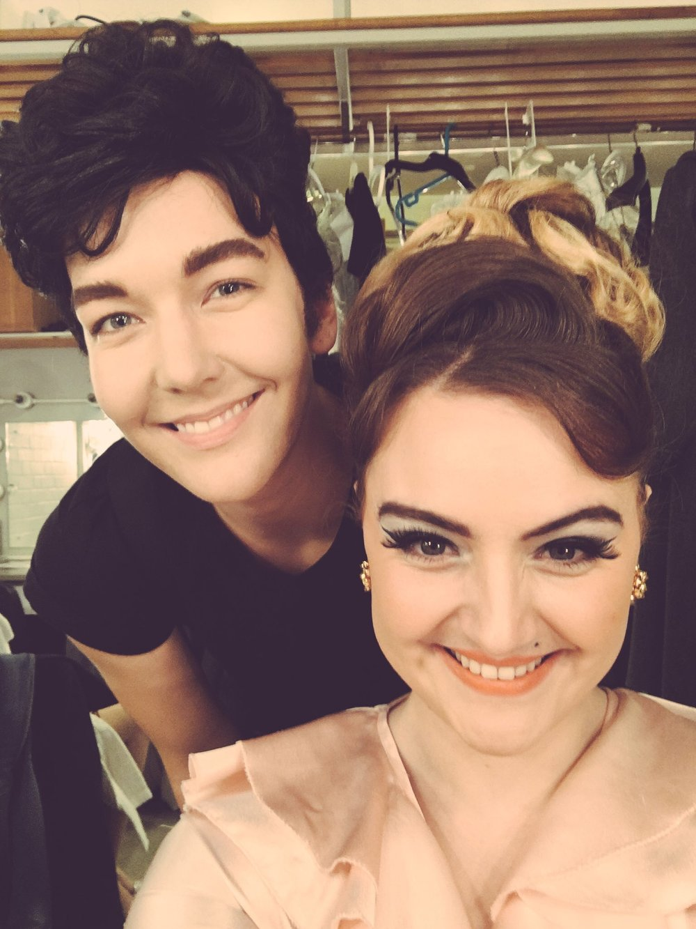 Faramondo (Ida Ränzlöv) & Rosimonda (Beth Moxon) Backstage Photo