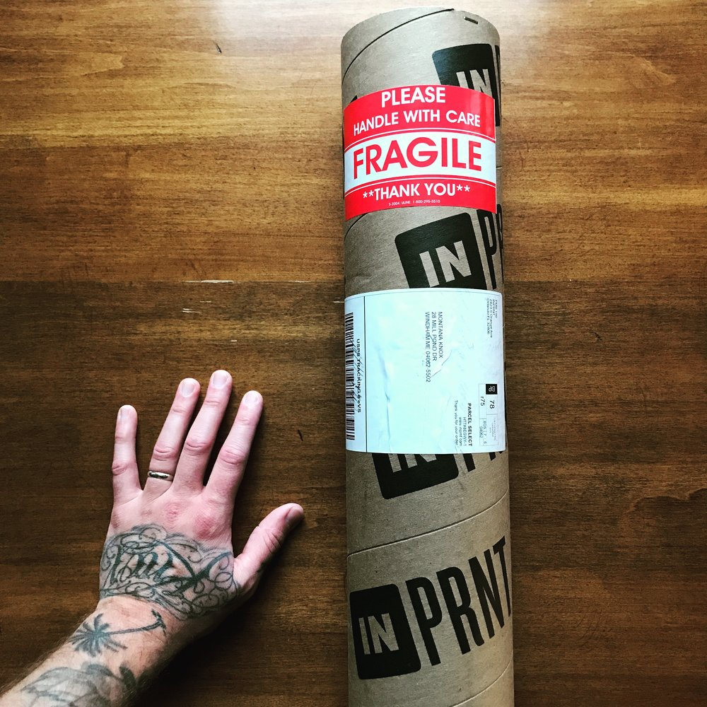 Order a huge Art Print and you get rad packaging.
