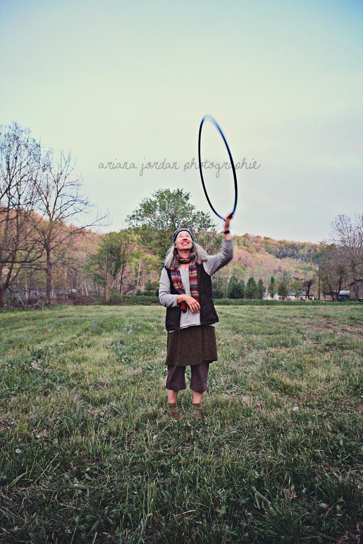 Jamie, hoop dancing.