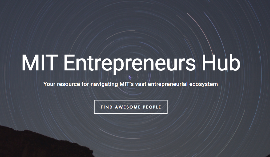 The MIT Entrepreneurs Hub has a market for connecting potential startup teammates, as well as a sector-based catalogue of resources.  Read more here.