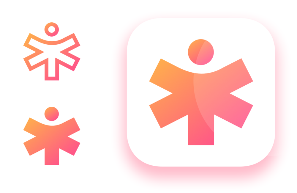 logomark and app icon for open source medical help