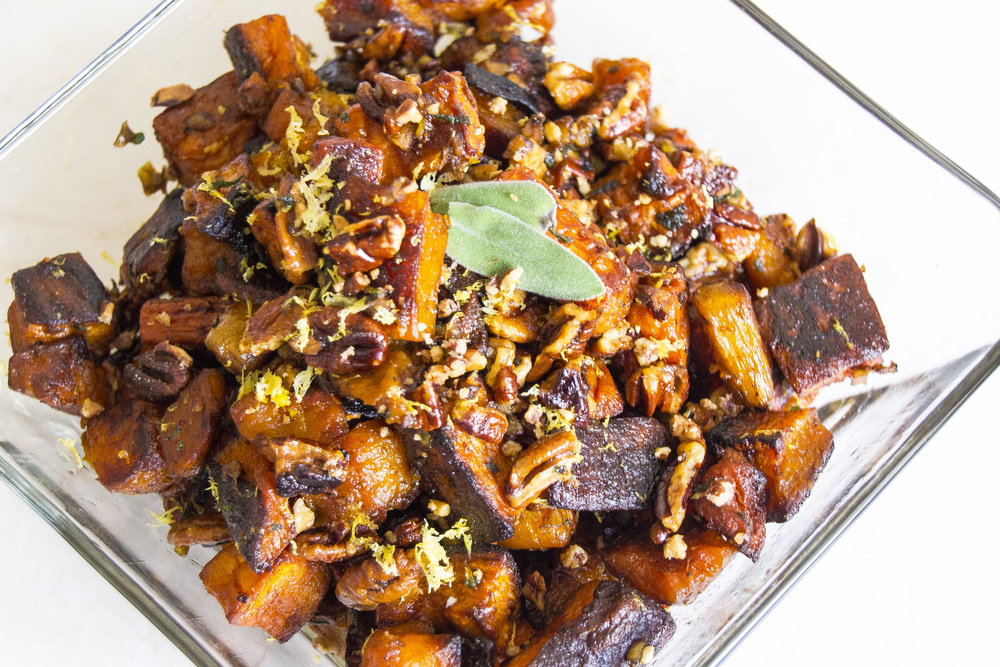 Roasted Root Veggies in a Sherry Sage Butter