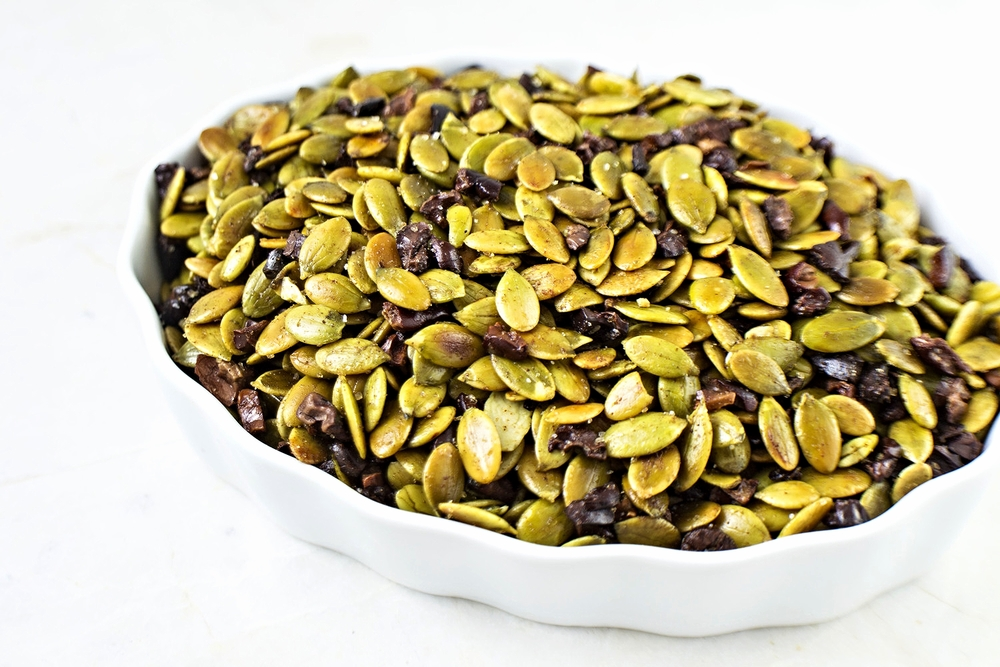 Sea Salted Cinnamon Pumpkin Seeds w/Cacao Nibs