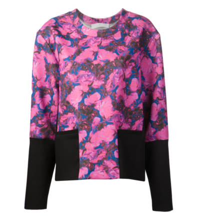 THAKOON ADDITION floral neoprene pullover