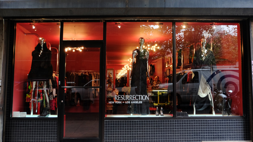 Resurrection / 217 Mott Street. New York, NY 10012 / 212-625-1374 It's a consignment shop full of designer pieces from the 50's and 60's. I'm not much of a thrifter but this place is a great inspiration house.
