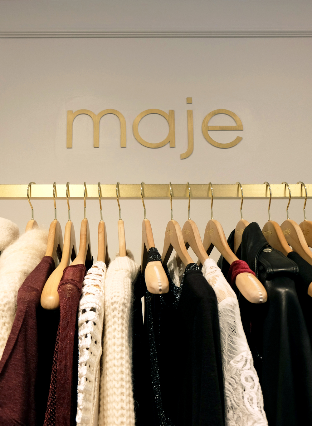 Maje / 10 Prince Street. New York, NY 10012 / 212-226-0426 Similar to Sandro, Maje also houses some great pieces overall (they are sister brands after all). The brand is a bit more glamorous than Sandro but there definitely are some impressive finds.