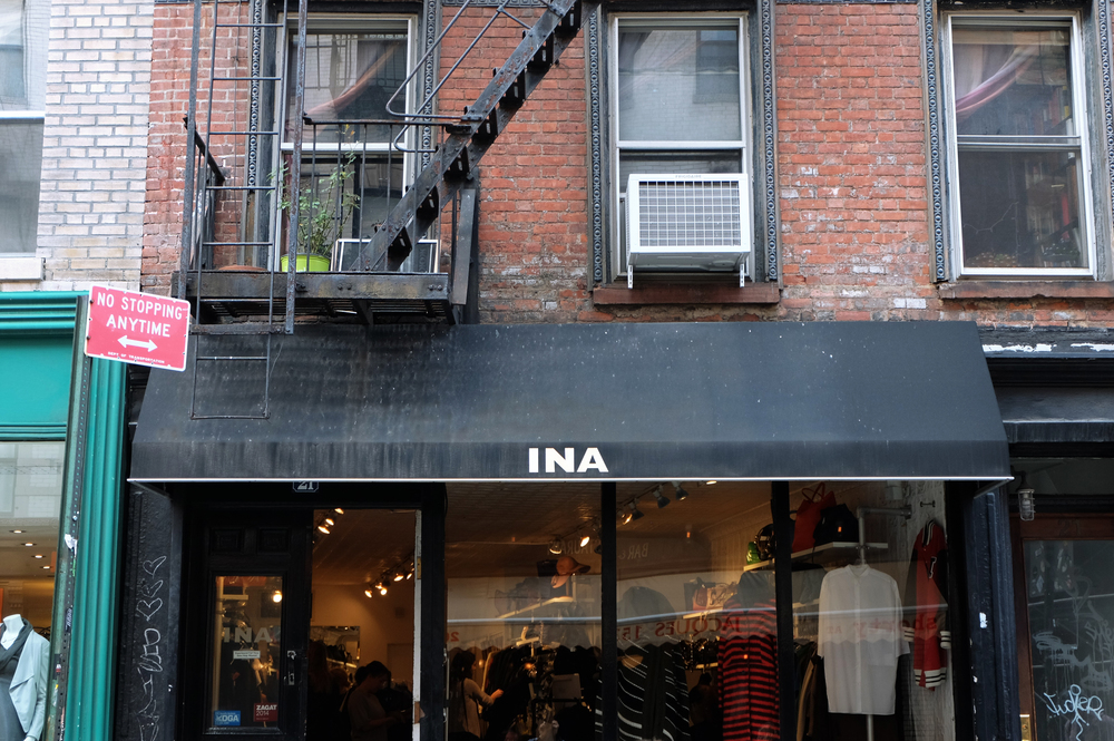 Ina / Prince Street. New York, NY 10012 /  I mentioned I'm not much of a thrifter but stores like Ina have some pretty mean outerwear I may not be opposed to second-handing once in a blue moon. You have to dig well though because most of the good stuff is probably hiding within the racks.
