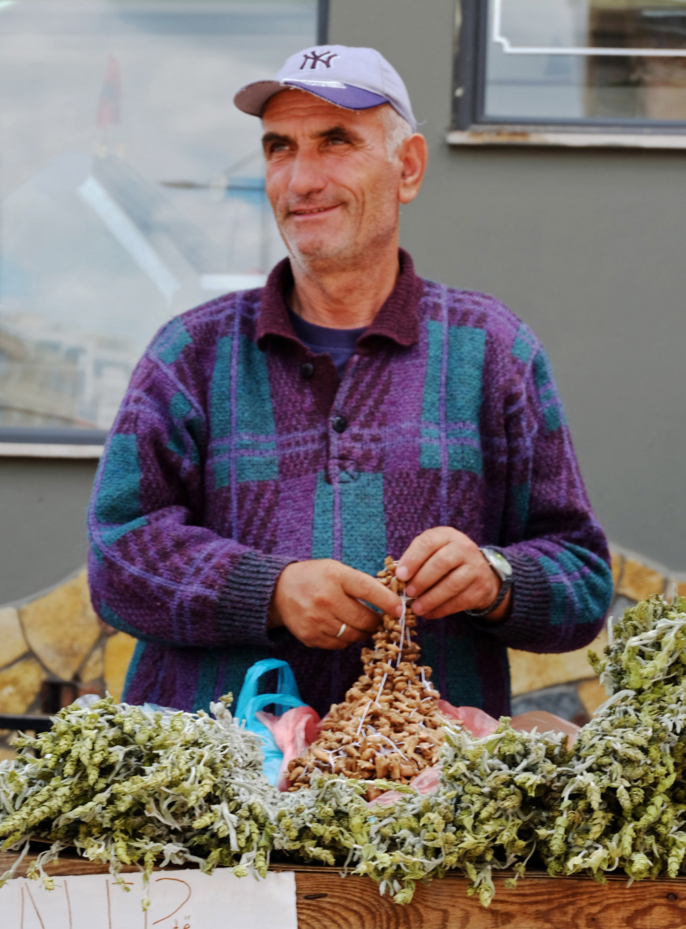 This gentleman is handling Salep which comes from the Orchid root. It's consumed in desserts and beverages mostly in Turkey and around the Balkans.