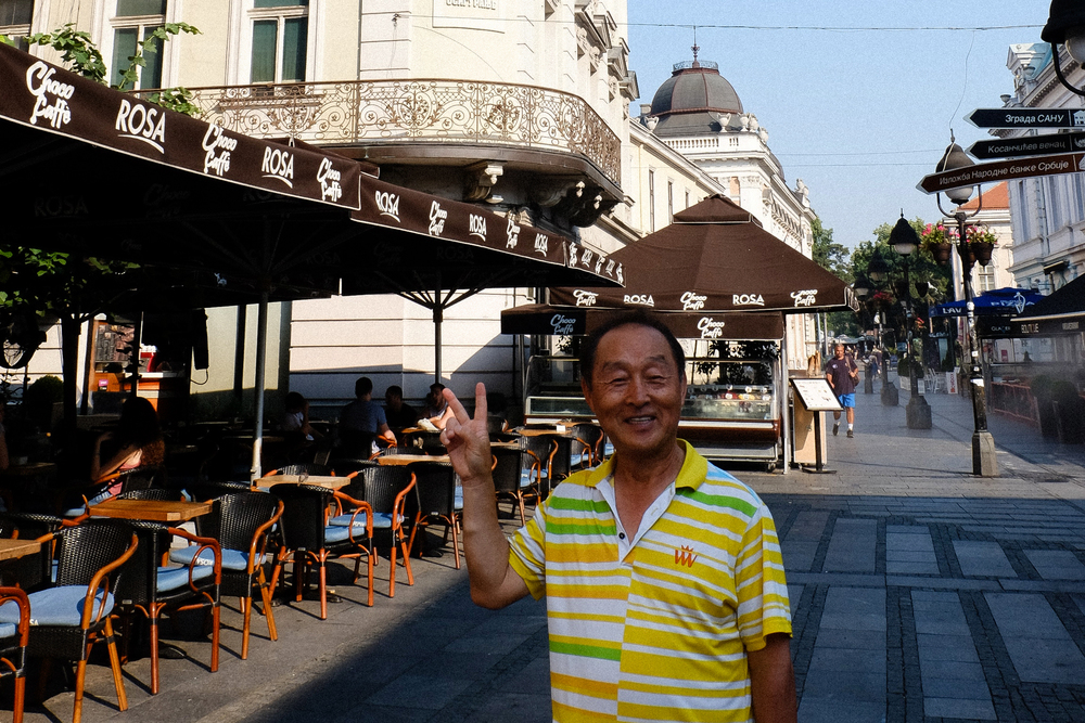 This gentleman was traveling the Balkans alone from Korea. He was ecstatic to run into a fellow Korean in Belgrade. Koreans are not the most common here.