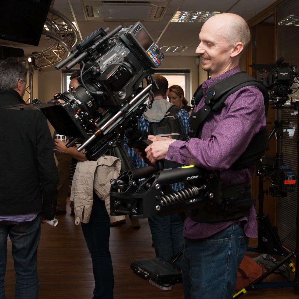 Sony F65 Digital Cinema Camera on a Steadicam Ultra 2