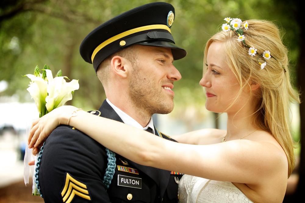Georgina Haig and Falk Hentschel nuptials. Prop photo for Reckless. CBS.