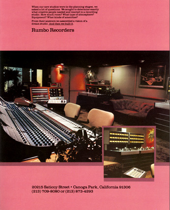 Cover of a Rumbo Recorders brochure