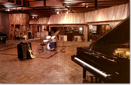 One of the studios inside Rumbo Recorders