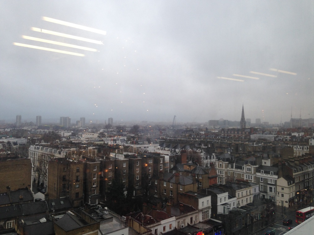 The view of West London from the Made.com showroom.