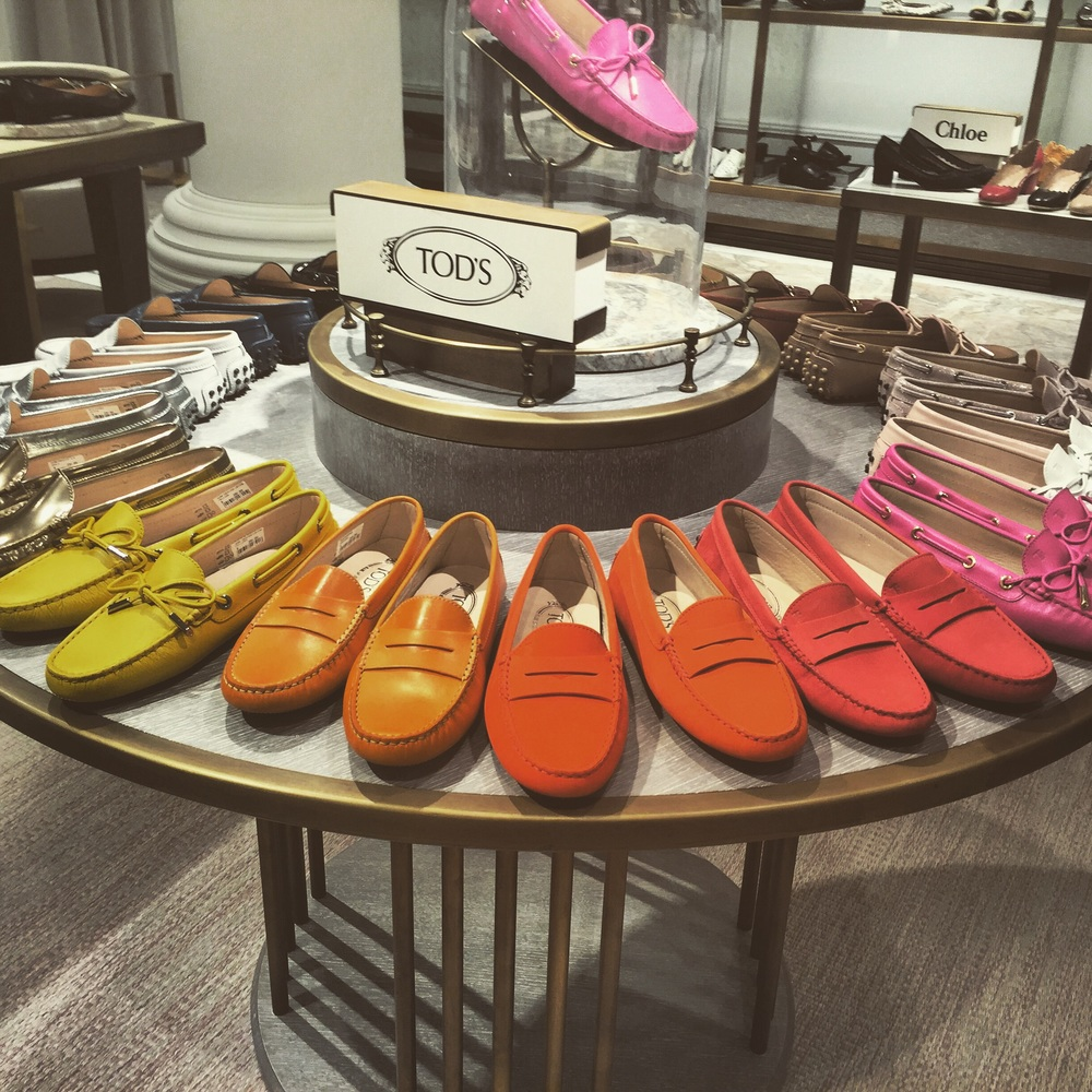A rainbow of Tod's in Fenwick of Bond Street