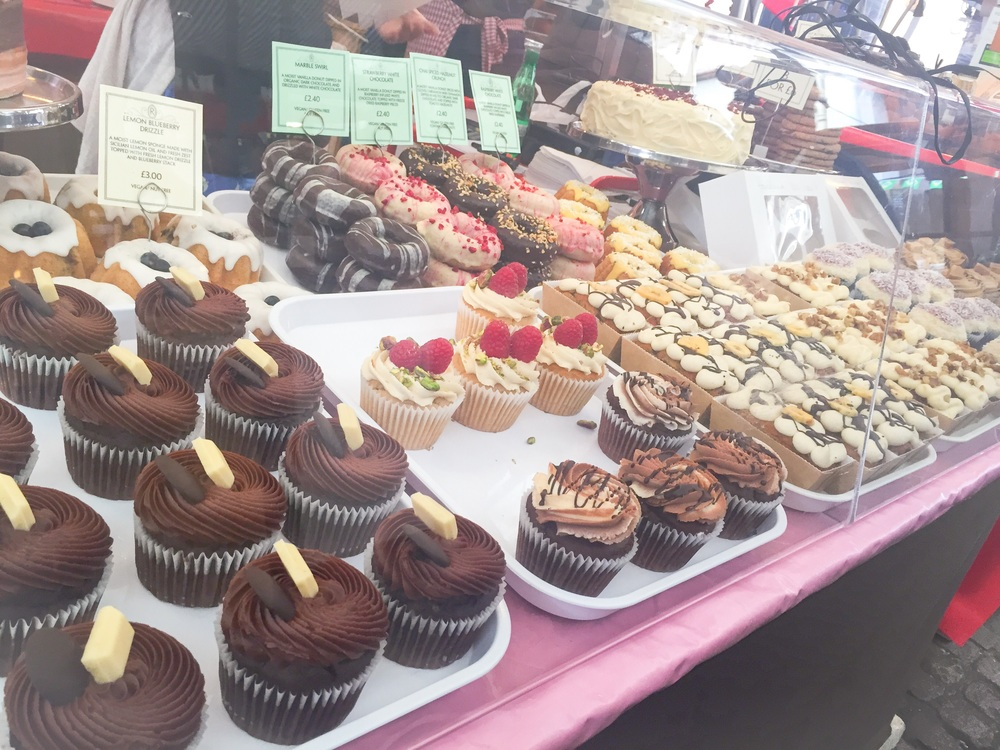 Ruby's of London Vegan cakes in Greenwich Market - Dairy Free!