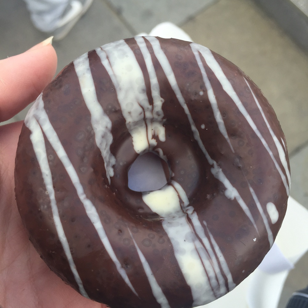 Vegan Marbled Doughnut (tasted incredible! Demolished on the banks of the Thames)