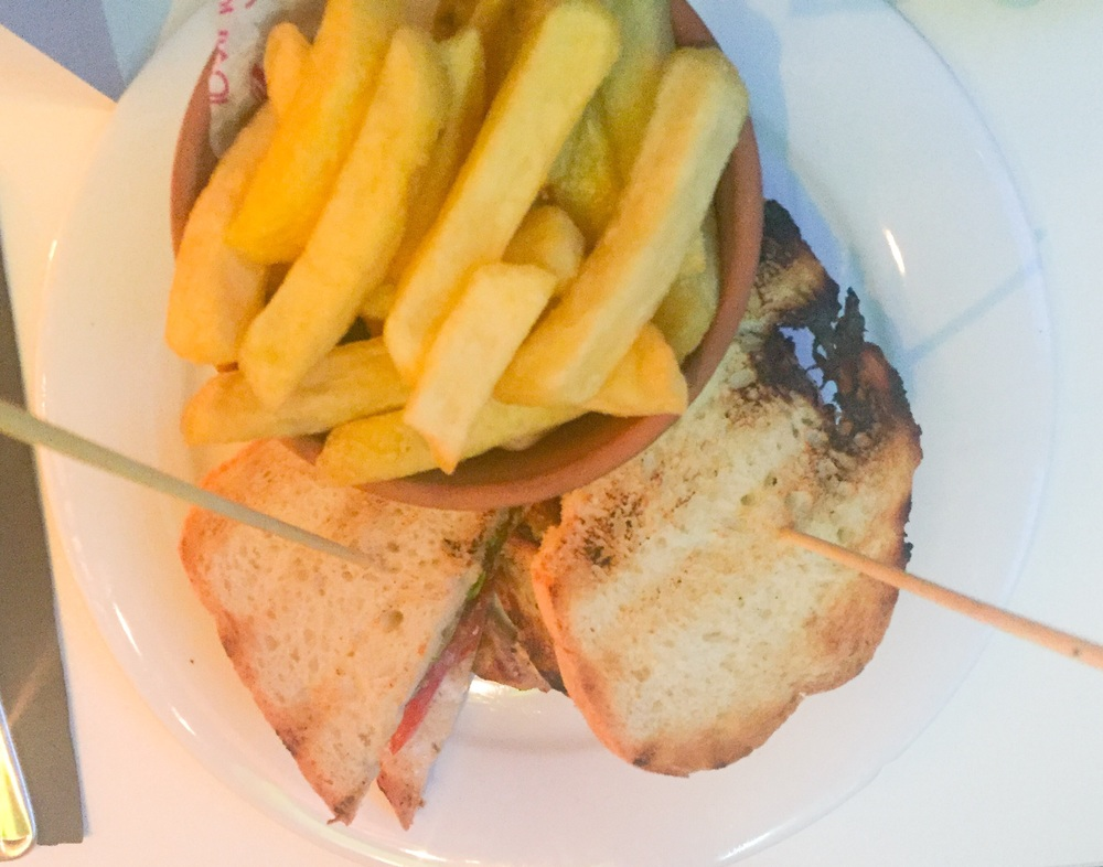 T's proper club sandwich