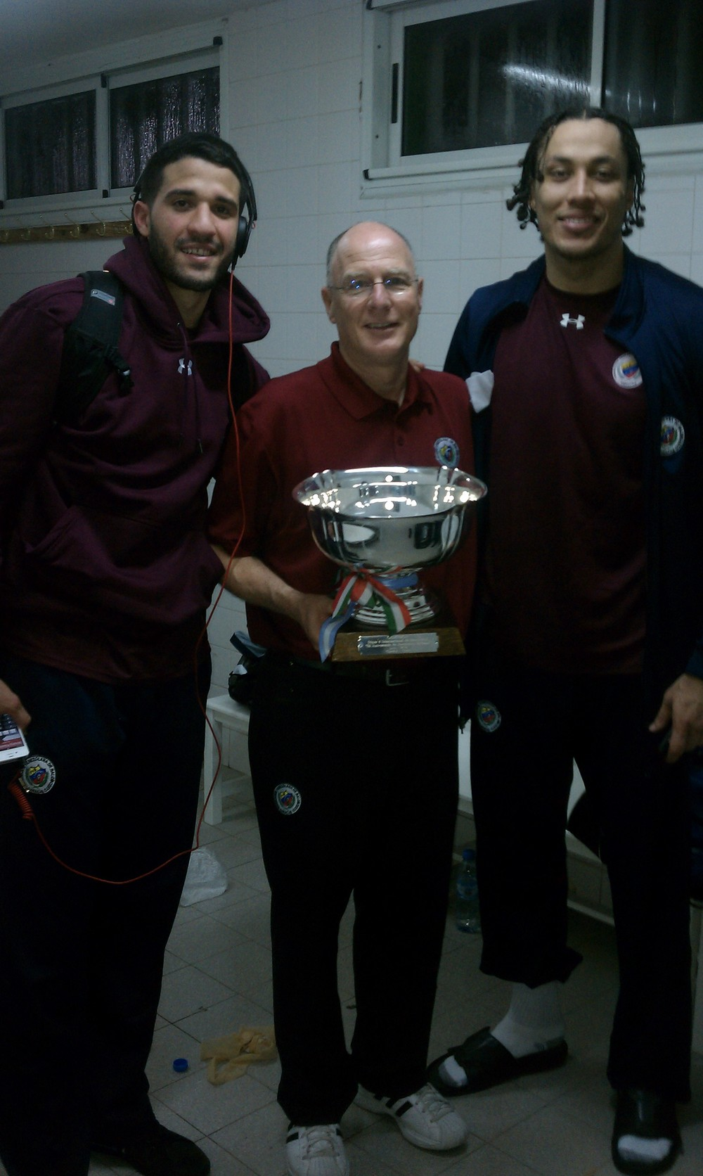 Brad with Greivis Vasquez and Hector Romero after winning the Charata Super 4 Championship by beating Brazil National Team and Argentine National Team in Charata, Argentina.
