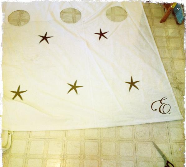 custom sailcloth shower curtain — second wind sails