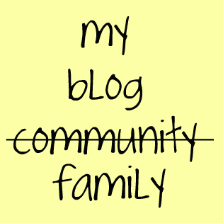 my blog family