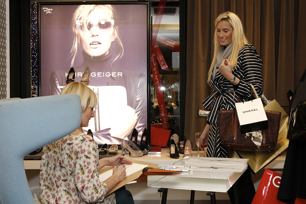 Live fashion illustration event with Kurt Geiger | Willa Gebbie