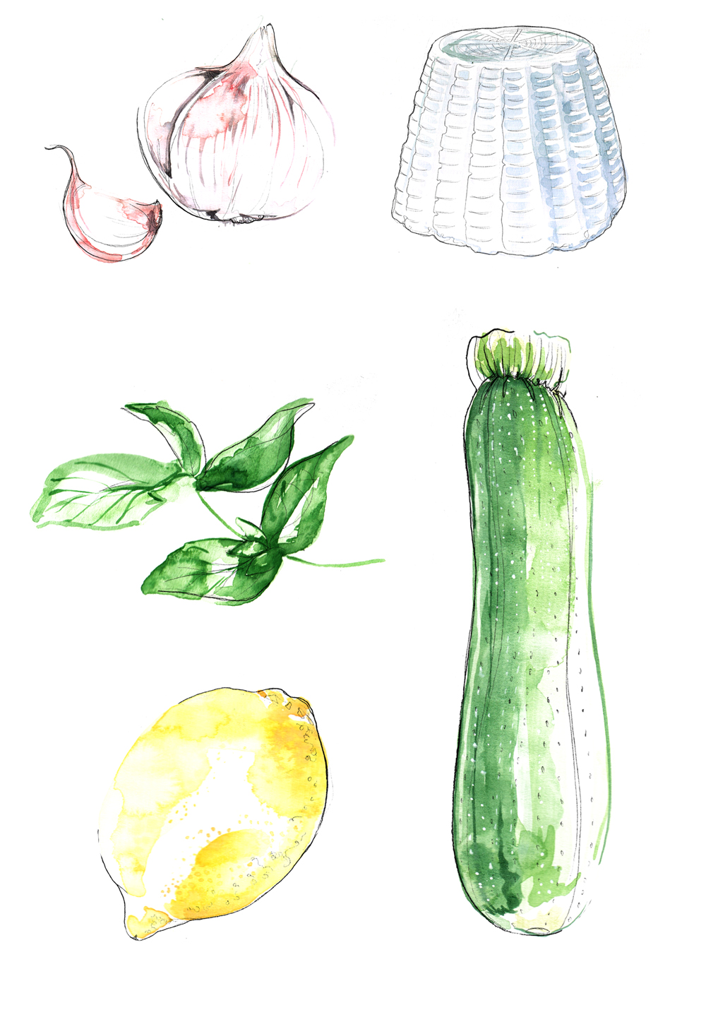New Work Food Illustrations For Tesco Magazine London