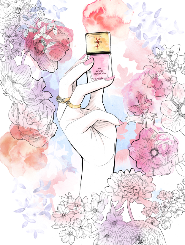 Floral Illustration | Packaging| Beauty | Feminine |London based illustrator Willa Gebbie
