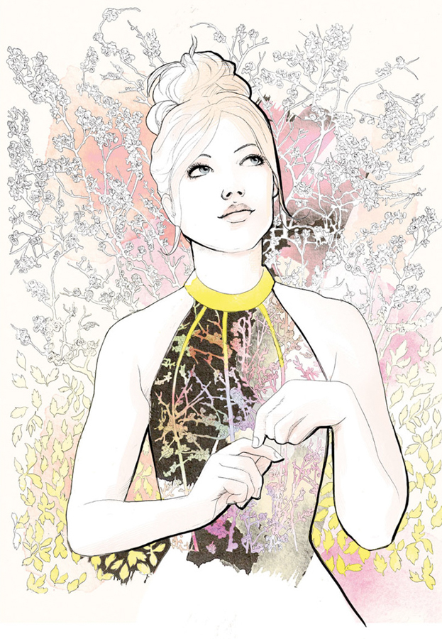 Floral Illustration | Figurative | Packaging | Beauty | Feminine | London based illustrator Willa Gebbie