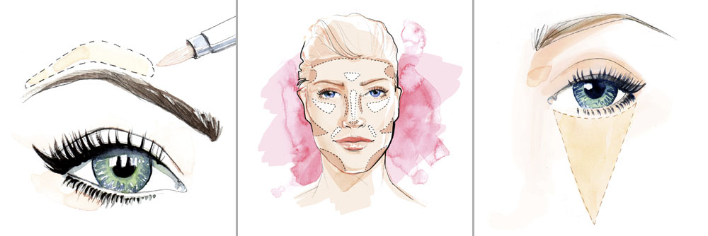 Make up and Beauty Illustration for Tesco online