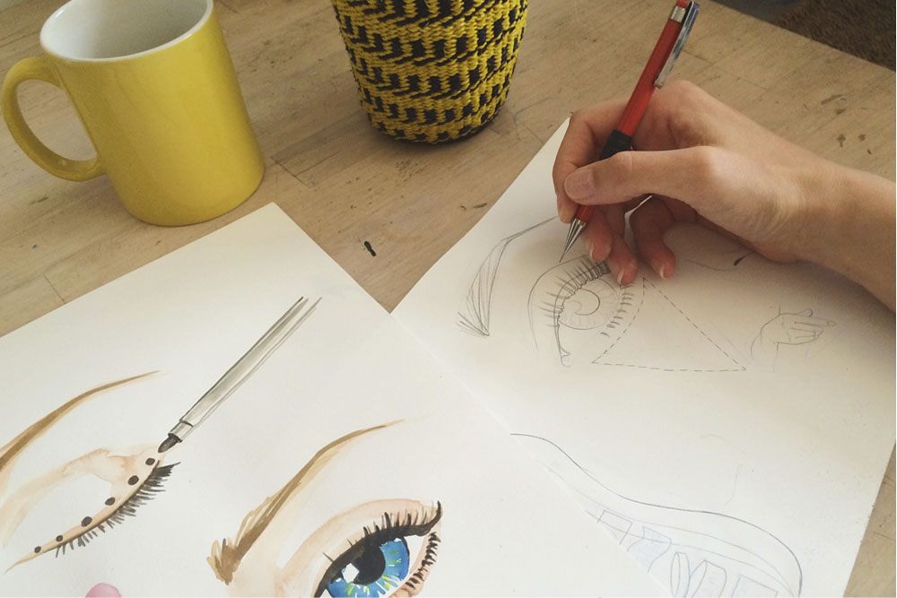 Work in progress: Creating hand painted, watercolour illustrations forTesco