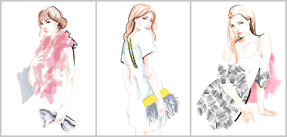Fashion Illustrations for Florence Bridge