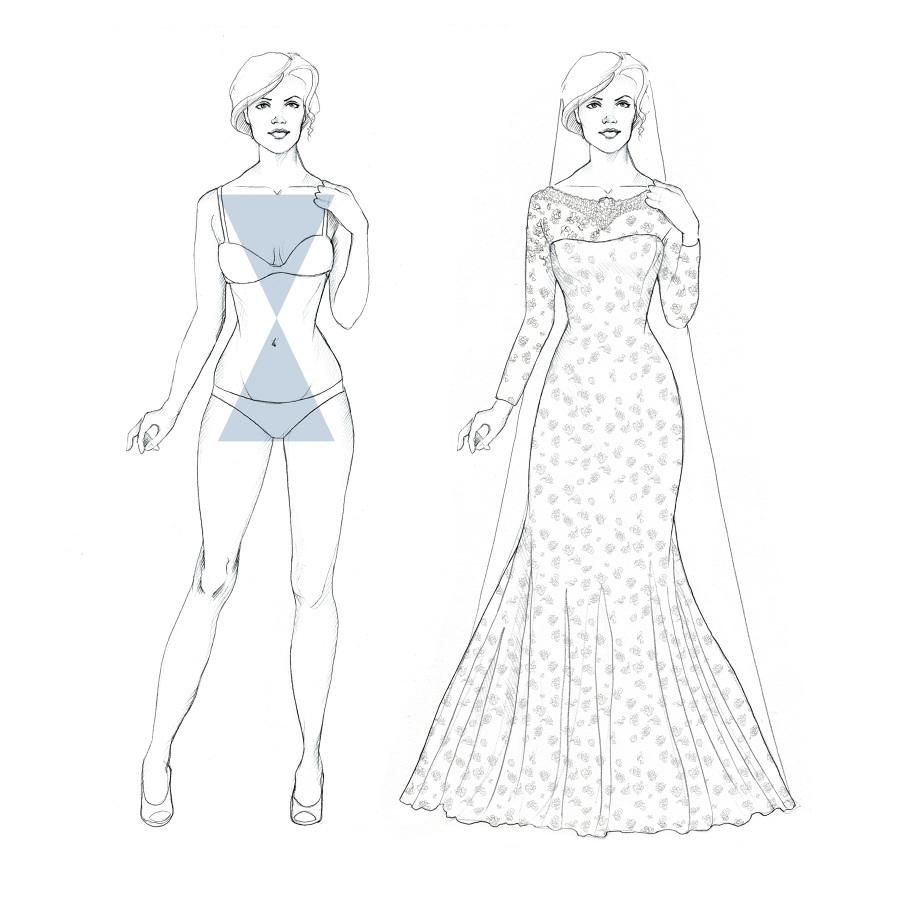 linear beauty, body shapes illustration