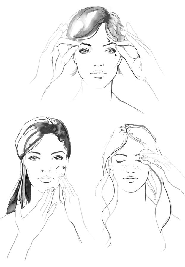b&w linear beauty illustrations