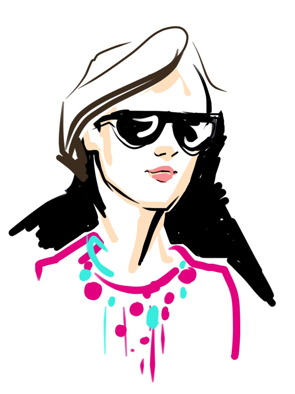 ipad digital drawing - fashion illustration