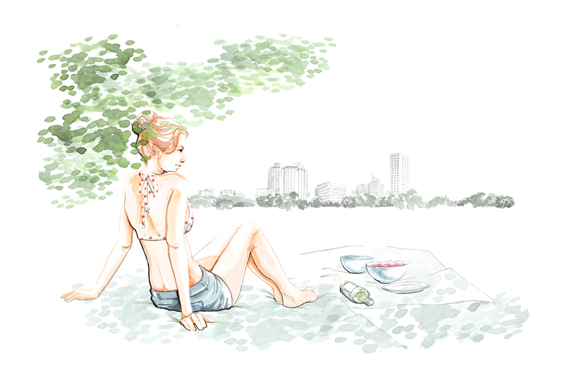 Summer, a fashion and lifestyle illustration by Willa Gebbie