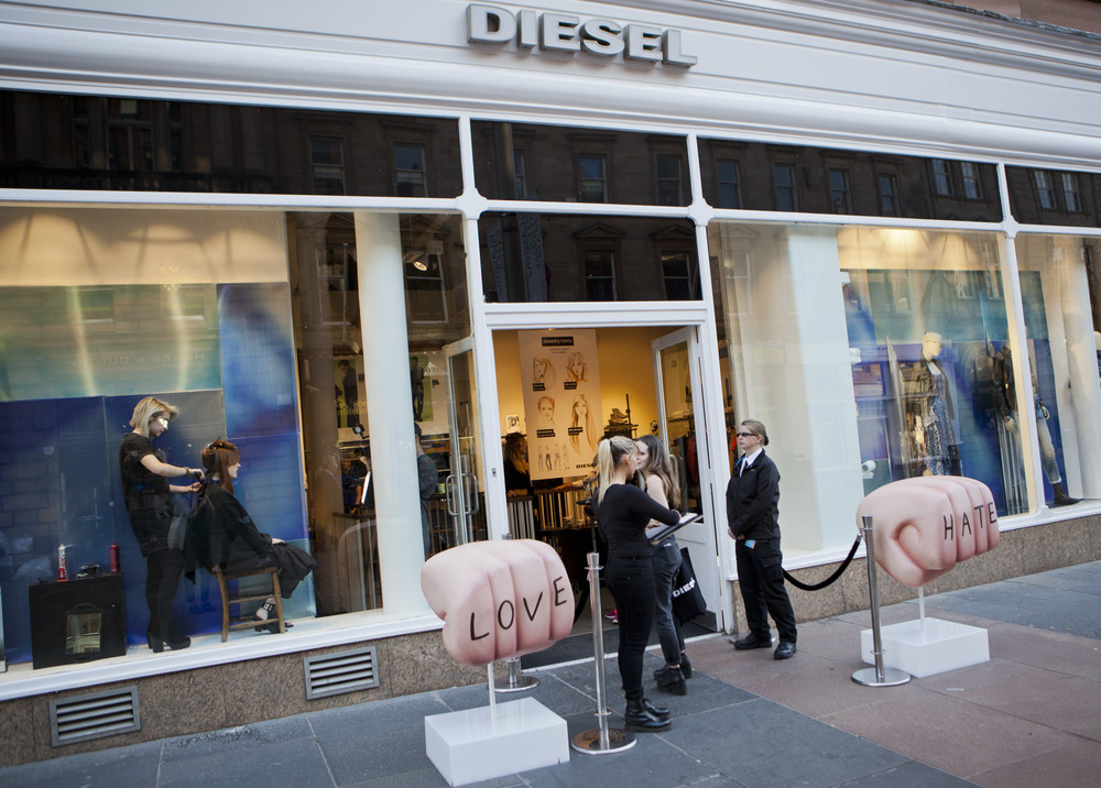 Shop Window: Diesel In-store Event Glasgow