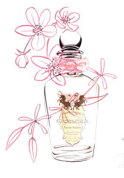 Perfume illustration, watercolour beauty and fashion by Willa Gebbie