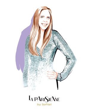PR fashion portrait for Sofitel by fashion illustrator, Willa Gebbie