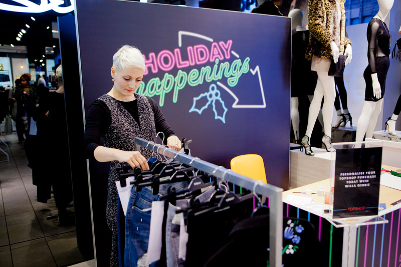Illustration, Customisation and Personalisation at Topshop