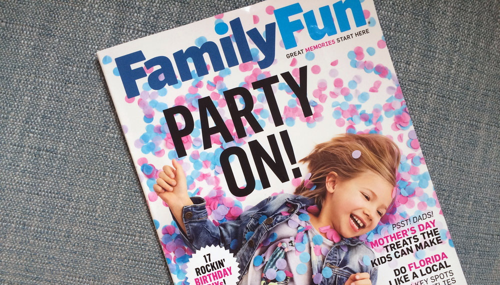 Family Fun magazine illustration commission b y Willa Gebbie