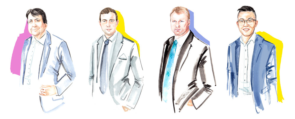 watercolour portrait illustrations illustrator for Savills