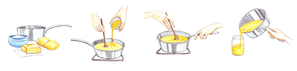 Watercolour step-by-step food illustration by Willa Gebbie
