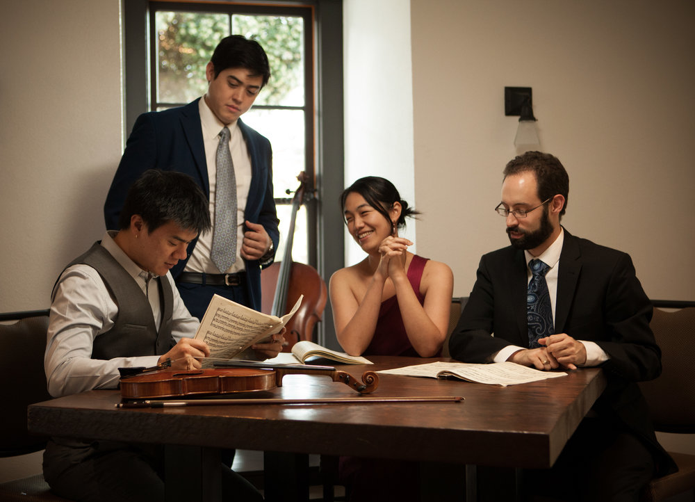 The Telegraph Quartet recently won the 2016 Naumburg Chamber Music Competition, a prize that helped launch the careers of groups including the Pacifica, Brentano and Emerson string quartets and the Eroica Trio. The prize carries with it a performance at Carnegie Hall / Weill Recital Hall and a commissioned work by esteemed American composer Robert Sirota.    The quartet also won the prestigious Grand Prize in the 2014 Fischoff Chamber Music Competition after playing together for less than a year. They were the only American quartet of the fifteen from around the world invited to showcase at the 2016 Paris Biennale de quatuors à cordes (Biennial String Quartet Festival and Symposium).    The Telegraph Quartet was formed in 2013 with a passionate commitment to the standard repertoire as well as contemporary and new music. Recent appearances include a New York début in Carnegie Hall / Weill Recital Hall, a European début in the Emilia Romagna Music Festival (Italy), Kneisel Hall Chamber Music Festival, Chautauqua Music Festival, Capistrano Chamber Music Festival, Chicago Chamber Music Society, Chamber Music Yellow Springs, and Great Lakes Music Festival. They have given three concerts on the San Francisco Conservatory's Chamber Music Masters Series, and a tour of the Midwest sponsored by the Fischoff Foundation. They have participated Robert Mann's Quartet Seminar at the Manhattan School of Music and the St. Lawrence Quartet's workshop at Stanford University. Their début CD of Webern, Britten and Kirchner will be released in 2017.    The quartet collaborates with pianist Simone Dinnerstein, cellist Norman Fischer, violist James Dunham (formerly of the Cleveland Quartet) and the Henschel Quartett from Germany.    Beyond the concert stage, the Telegraph Quartet seeks to spread its music through education and audience engagement. They have given master classes at the San Francisco Conservatory of Music and the Chicago Youth Symphony Orchestra. The quartet members hold teaching positions at various music institutions including San Francisco Conservatory of Music's Chamber Music Program and Young Chamber Musicians in San Francisco's South Bay.     The Telegraph Quartet is based in the San Francisco Bay area.