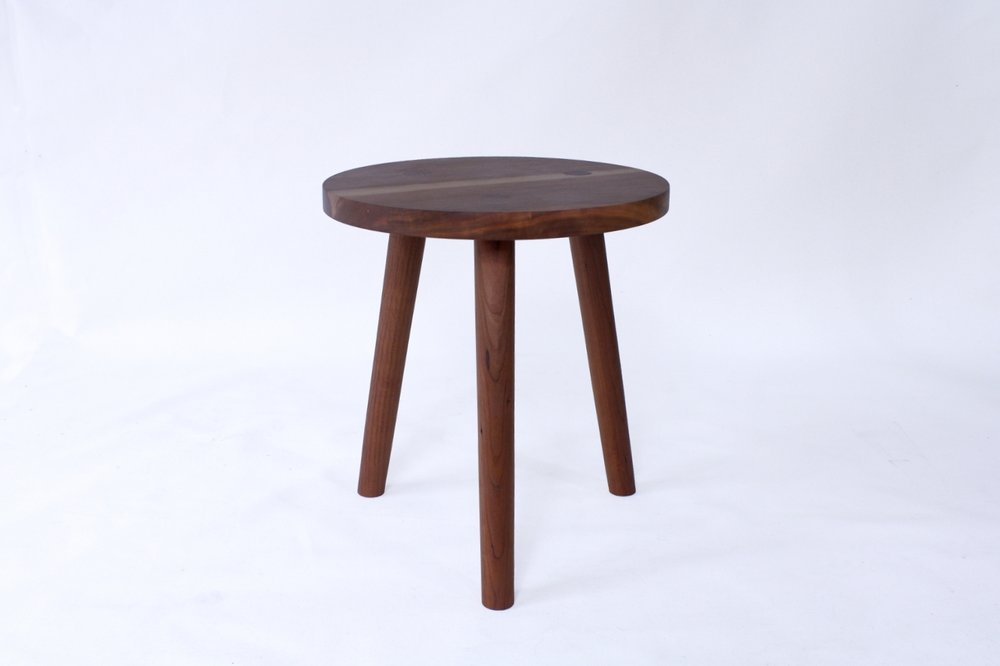 BARE Handmade Wood Stool Or Side TableLAYLO STUDIO - Natural cherry side table