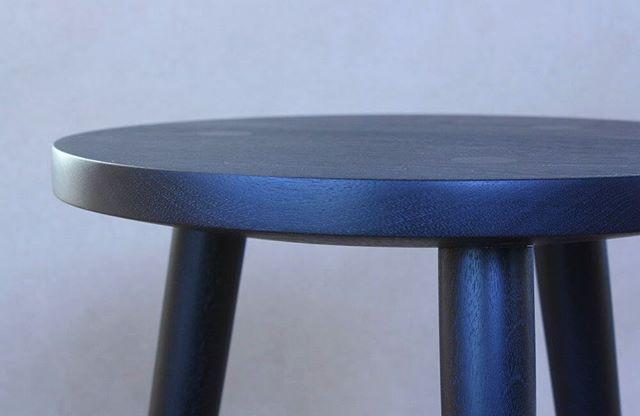 ebonized walnut simple stool . . thinking about finishes getting ready for finishing . . #laylostudio #walnut #ebony #woodworking #woodturning #details #joinery #joints #handmade #furniture #chicago #allthatsanding