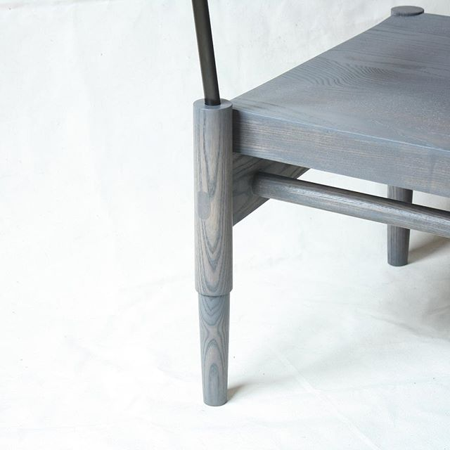 CAMBER | oil washed ash/blackened steel | goin' out west to the golden state . . @1stdibs . . #laylostudio #1stdibs #camber #loungechair #joinery #details #woodworking #metalwork #customfurniture #handmade #madetoorder #furnituredesign #interiordesign #chicago #nobutts