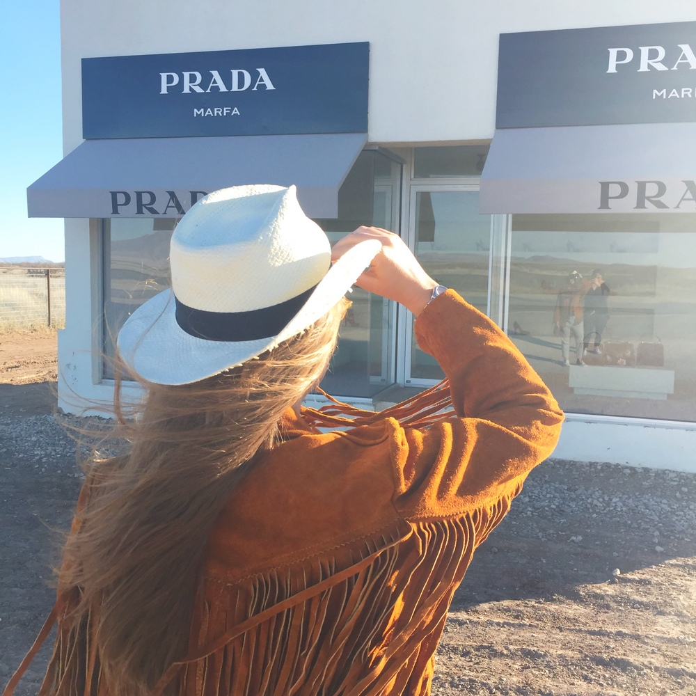 Prada Art Installation in the middle of nowhere. TEXAS.