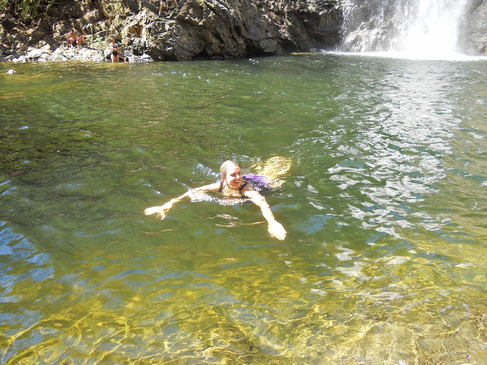 And after a short hike a plunge into the crisp waters!